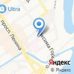 Комбинат натяжных потолков на карте Барнаула