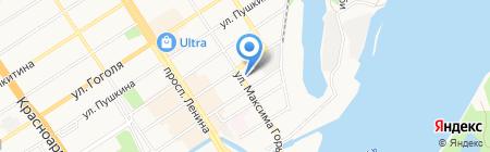 Государственный художественный музей Алтайского края на карте Барнаула