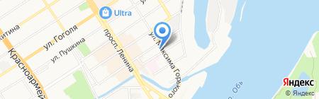 Аргенто на карте Барнаула