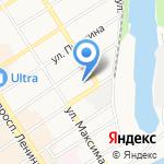 Пункт технического осмотра транспорта на карте Барнаула