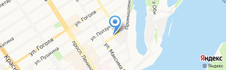 Мальва на карте Барнаула
