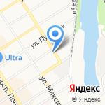 Автободи на карте Барнаула