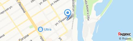 Магистраль на карте Барнаула