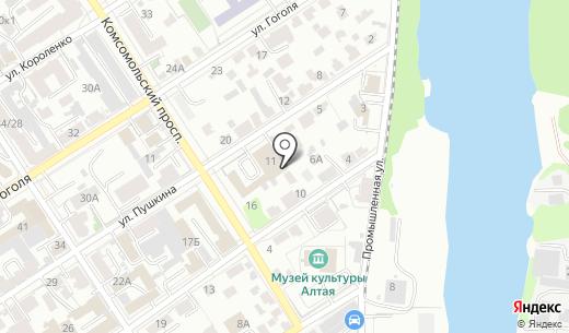 Единая служба компьютерной помощи. Схема проезда в Барнауле