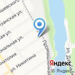 Абажур на карте Барнаула