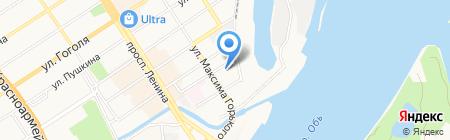 Караван на карте Барнаула