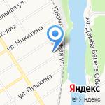 Del на карте Барнаула