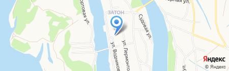Территориальное Управление микрорайона Затон на карте Барнаула