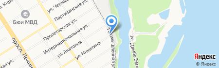 Нептун на карте Барнаула