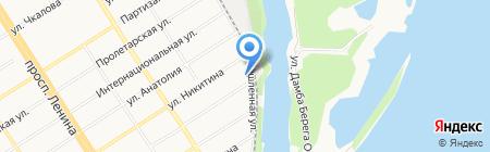 Дедал на карте Барнаула