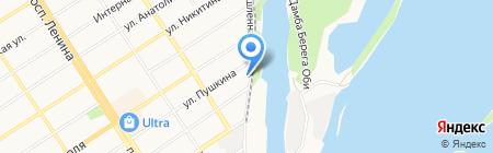 Алтайский научный центр на карте Барнаула