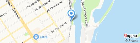 Барнаульский линейный отдел Обского Управления государственного речного надзора на карте Барнаула