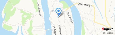 Библиотека №8 на карте Барнаула