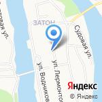 Участковый пункт полиции пос. Затон на карте Барнаула
