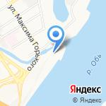 Галэкс на карте Барнаула