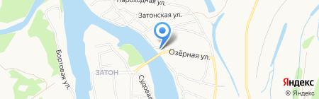 У моста на карте Барнаула