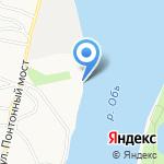 Стоянка катеров на карте Барнаула