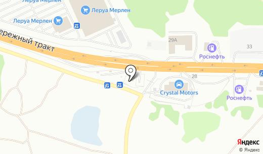 Стационарный пост ДПС КП Затон. Схема проезда в Барнауле