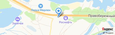 Реал на карте Барнаула