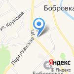 Воскеят на карте Барнаула