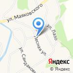 Заречный на карте Барнаула