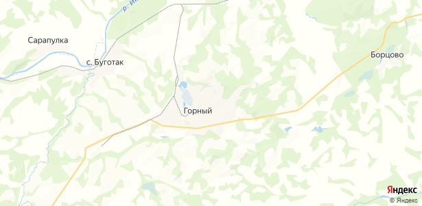 Горный на карте