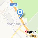 Универсал на карте Барнаула
