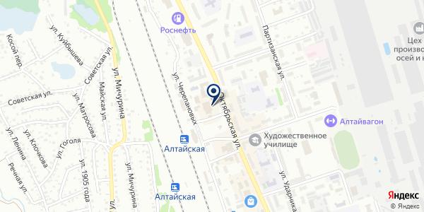 Магазин табачной продукции на карте Новоалтайске