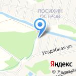 Усадебный берег на карте Барнаула