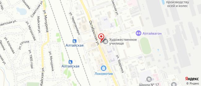 Карта расположения пункта доставки Новоалтайск 22 Партсъезда в городе Новоалтайск