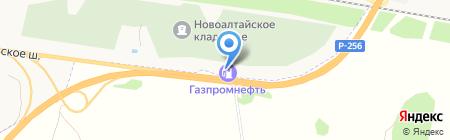 АЗС Газпромнефть-Новосибирск на карте Барнаула