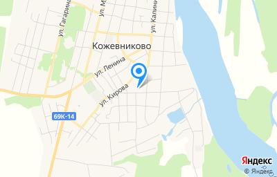 Местоположение на карте пункта техосмотра по адресу Томская обл, с Кожевниково, ул 8 Марта, д 34А