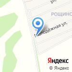 Рощино на карте Барнаула