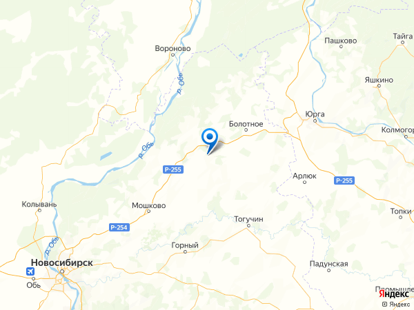 село Таганай на карте