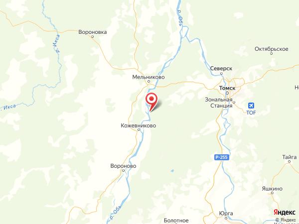 село Киреевск на карте