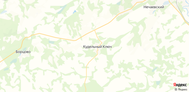 Кудельный Ключ на карте