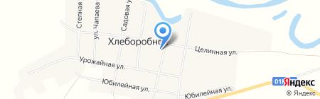 Магазин бытовой химии на карте Хлеборобного