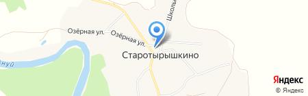 Ануй на карте Старотырышкино