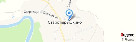 Старотырышкинский фельдшерско-акушерский пункт на карте Старотырышкино