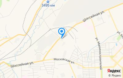 Местоположение на карте пункта техосмотра по адресу Кемеровская область - Кузбасс, г Юрга, ул Шоссейная, д 52А