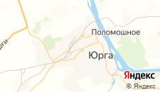 Отели города Юрга на карте