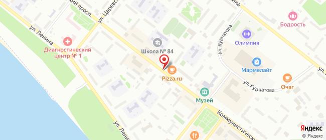 Карта расположения пункта доставки Билайн в городе Северск