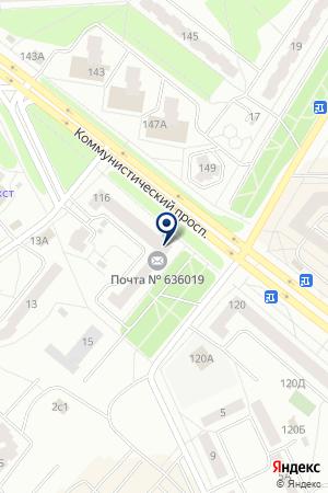 БАНК ГАЗПРОМБАНК на карте Северска