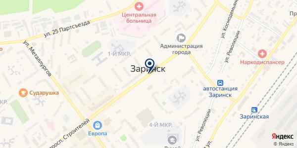 БАНК РОССИЙСКИЙ СЕЛЬСКОХОЗЯЙСТВЕННЫЙ БАНК на карте Заринске