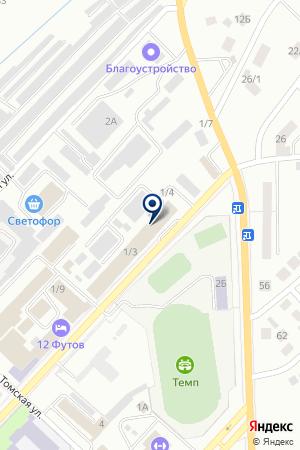 МАГАЗИН МИР МЕБЕЛИ на карте Юрги