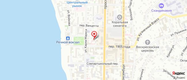 Карта расположения пункта доставки Томск 1905 года в городе Томск