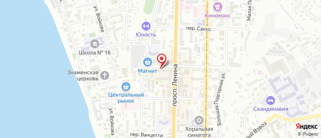 Карта расположения пункта доставки Билайн в городе Томск