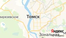 Гостиницы города Томск на карте