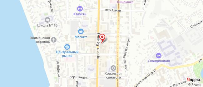 Карта расположения пункта доставки Центральный рынок в городе Томск