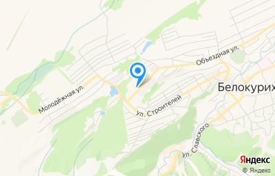 Местоположение на карте пункта техосмотра по адресу Алтайский край, г Белокуриха, ул Объездная, д 3